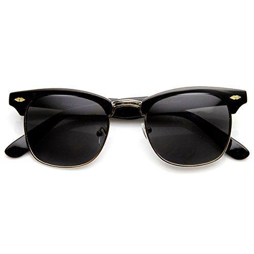 Classic Shaped Half Frame Semi-Rimless Horn Rimmed Sunglasses (Black Smoke) ZeroUV http://www.amazon.co.uk/dp/B00WTEKNU2/ref=cm_sw_r_pi_dp_BPZ0wb1MTS4X2