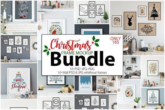 Christmas Frame Mockup Bundle by Yuri-U on @creativemarket