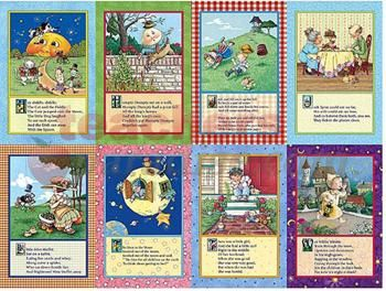 Free Printable Nursery Rhyme Posters   Mother Goose Nursery Rhymes Bulletin Board from Mary Engelbreit from ...