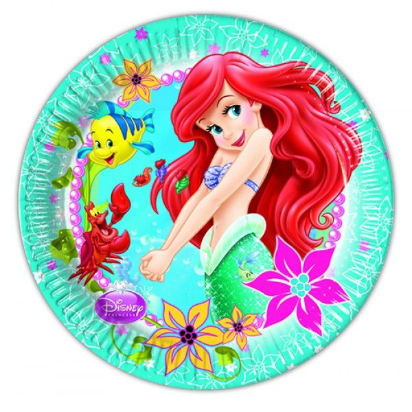 Little mermaid paper plates available online from MiParty.Online  sc 1 st  Pinterest & 8 best Little Mermaid Princess Ariel Birthday Invitation Set! images ...