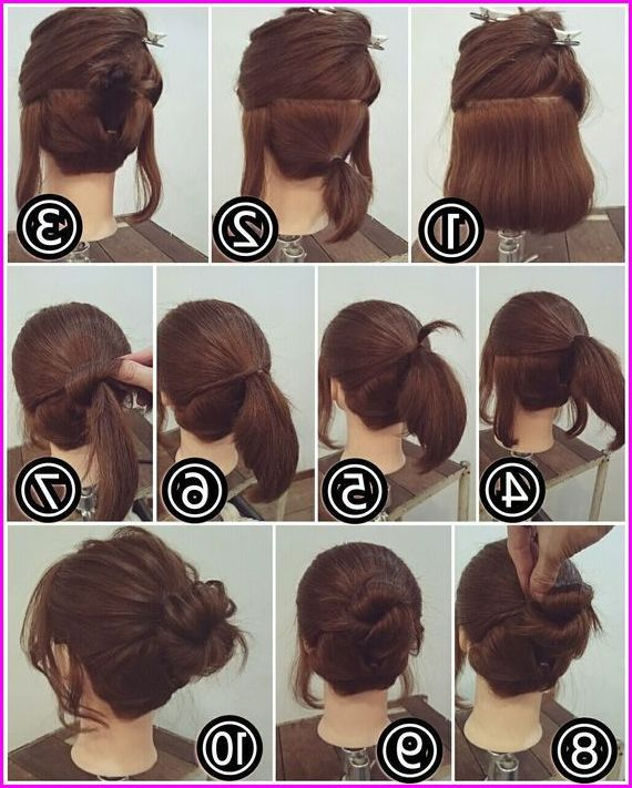Pin On Short Hair Updo