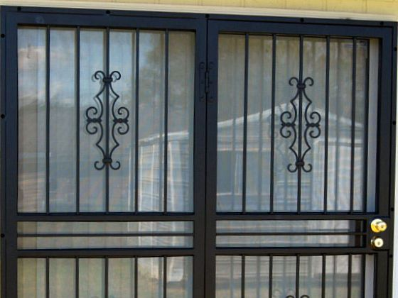 32 best images about door security bars gate and grilles for Sliding glass doors security