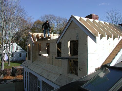 9 best farm dormer images on pinterest front stoop shed for Cape cod dormer addition
