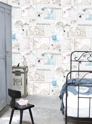 Behangposter globe oz 3130 de leukste behang voor de kinderkamer bij saartje prum mik kamer - Behang voor volwassen kamer ...