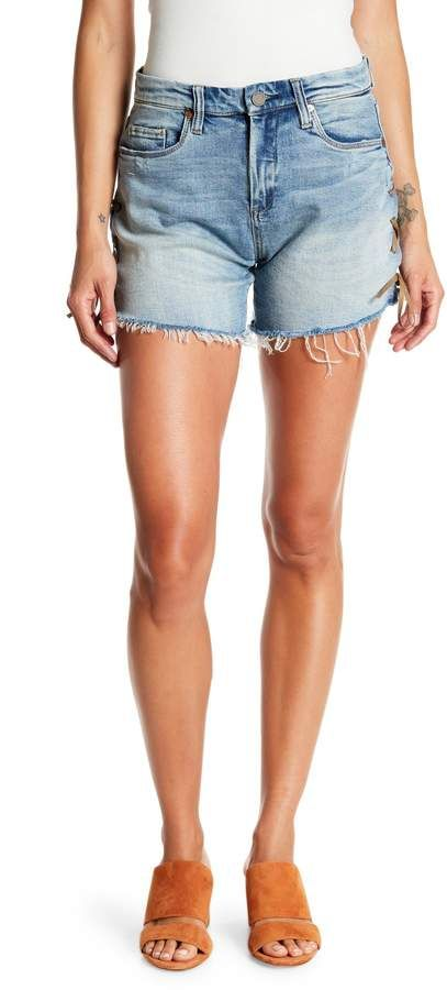 BLANKNYC Denim Lace-Up High Rise Denim Shorts