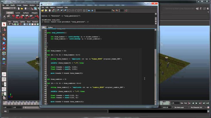 Creating a zombie simulation using MEL - Part 6