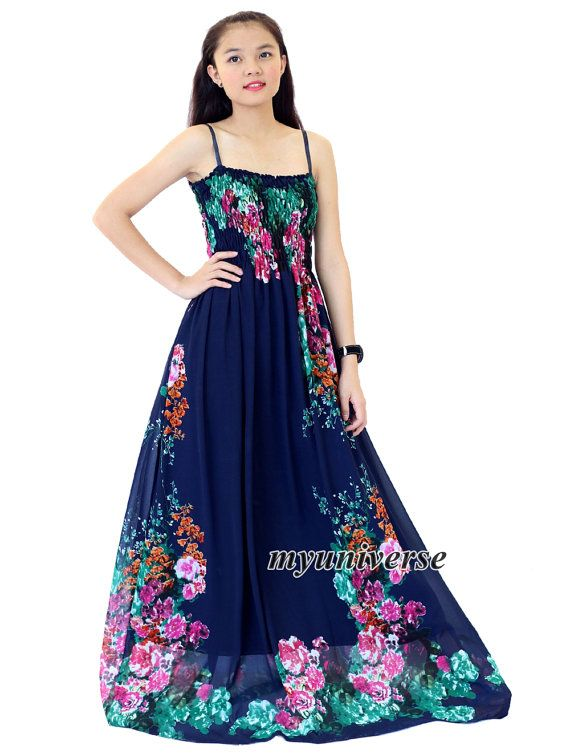 Navy Blue Dress Maxi Dress Summer Plus Size Floral Evening Dress Chiffon Dress by myuniverse. Explore more products on http://myuniverse.etsy.com