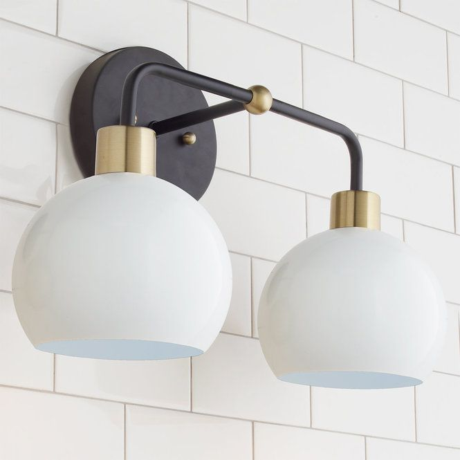 Young House Love Bubble Vanity Light 2 Light Bathroom Light Fixtures Young House Love Vanity Lighting