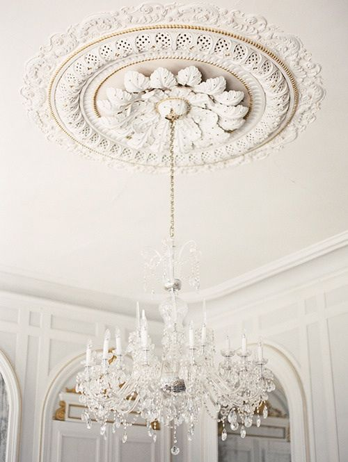 FOR THE HOME || NOVELA BRIDE...Ornate Ceiling Roses & Chandeliers || Where the modern romantics play & plan the most stylish weddings... www.novelabride.com @novelabride #jointheclique