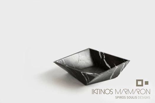 Bowl made out of Pietra Grey Marble, designed by Spiros Soulis for Iktinos Marmaron.