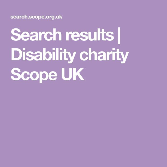 Search results   Disability charity Scope UK