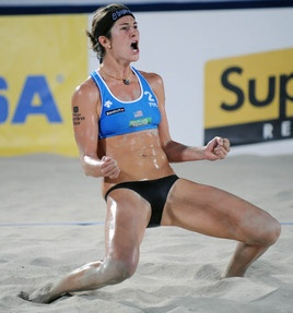 Nicole will most likely be Kerri Walsh's partner for RIO Olympics 2016 [original pin ~ Nicole Branagh - women's vb is tough!]