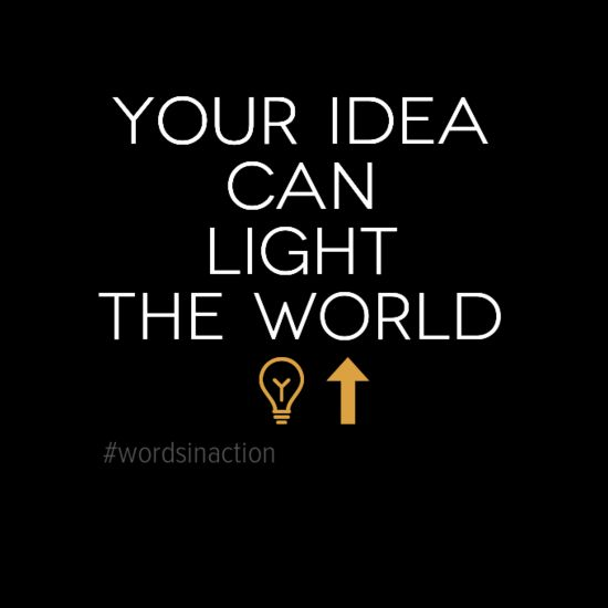 Your Idea Can Light up The World