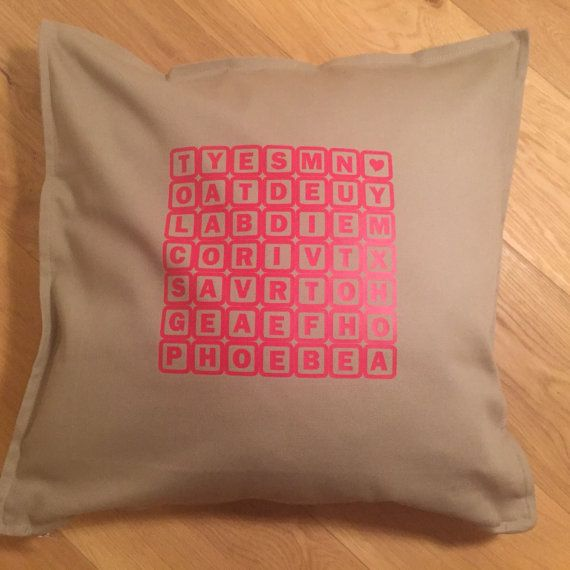 Word Search Personalised Custom Cushion/Pillow  by weheartcards