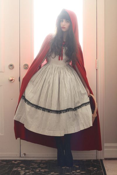 Костюм на хэллоуин красной шапочки своими руками