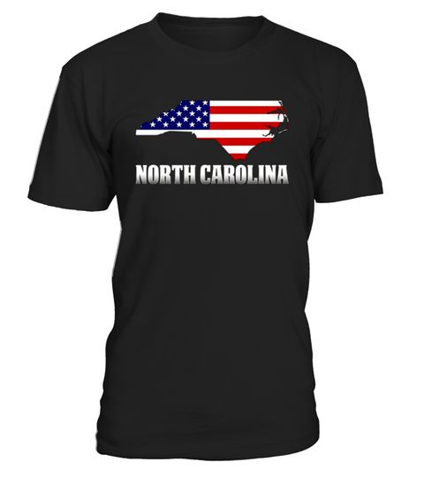 # American Flag North Carolina Map T-Shirt .   North CarolinaWith America T-shirt is a great way to show your pride of America. Celebrate the National holiday July 4th with this t-shirt. Memorial day and 4th of July T-shirt. America Flag Day T-shirt. American Patriot T-shirt.  TIP: If you buy 2 or more (hint: make a gift for someone or team up) you'll save quite a lot on shipping. Guaranteed safe and secure checkout via:  Paypal | VISA | MASTERCARD  Click theGREEN BUTTON, select your…