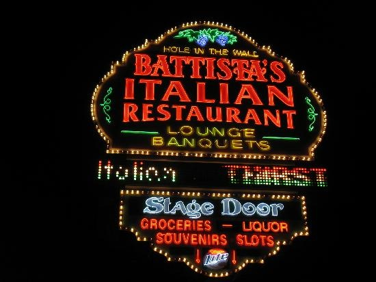 """battista's in las vegas """"old school"""" vegas italian restaurant. the rat pack hung out here, the food is amazing, and there is still luigi the little old guy that goes table to table playing his accordion."""