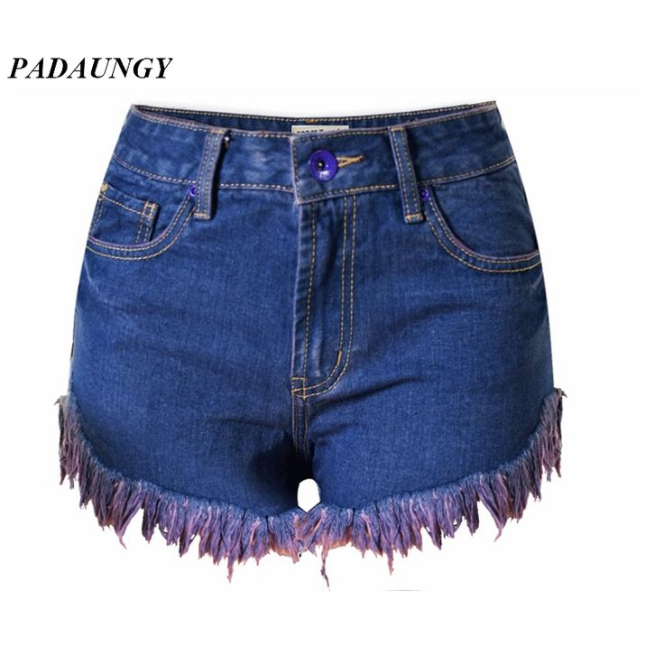 17.18$  Buy here - http://alievt.shopchina.info/go.php?t=32703918133 - PADAUNGY Tassel High Waist Torn Jeans Shorts Hotpants Pantalones Vaqueros Mujer Denim Short Pants Ripped Jeggings Jean Femme 17.18$ #magazine