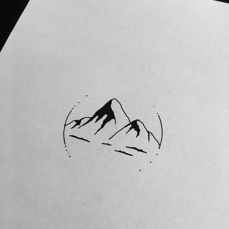 Drew up this super simple little mountain scene for a client that decided not… https://uk.pinterest.com/925jewelry1/women-watches/