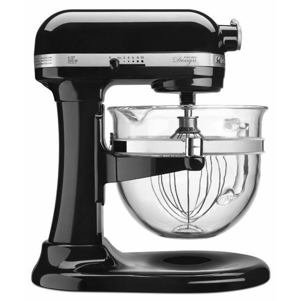 KitchenAid Onyx Black 6 Quart Bowl Lift Stand Mixer Pro 600 Design Series Glossy #KitchenAid