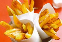 Syn-free chips – Recipes – Slimming World. I did this without the fry light the other day and it worked out fine!
