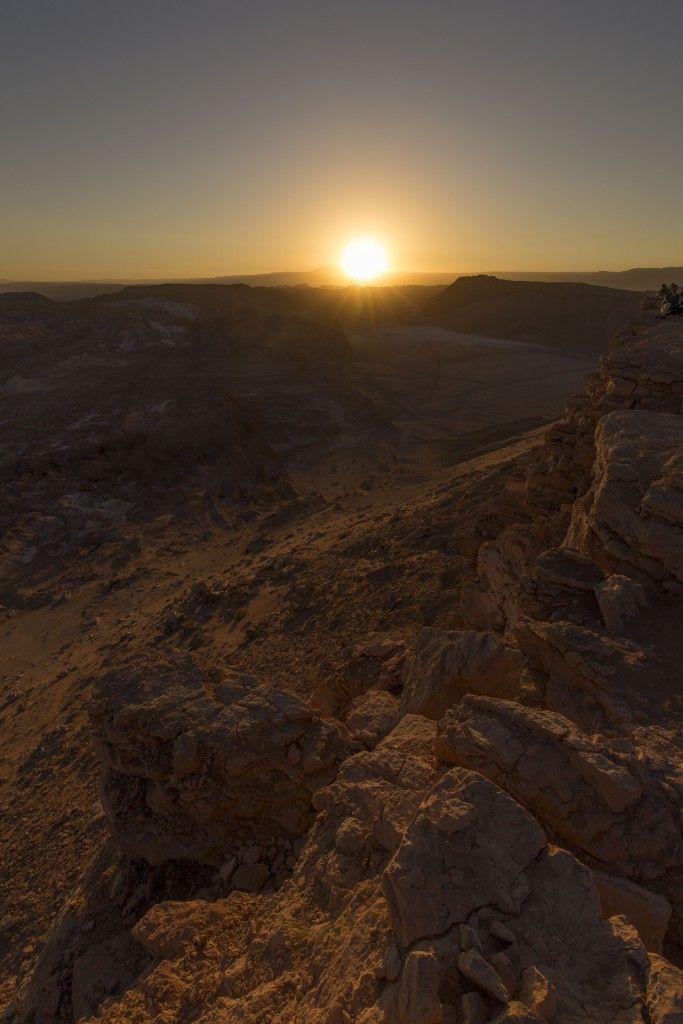 Atacama Woestijn Maanvallei Zonsondergang