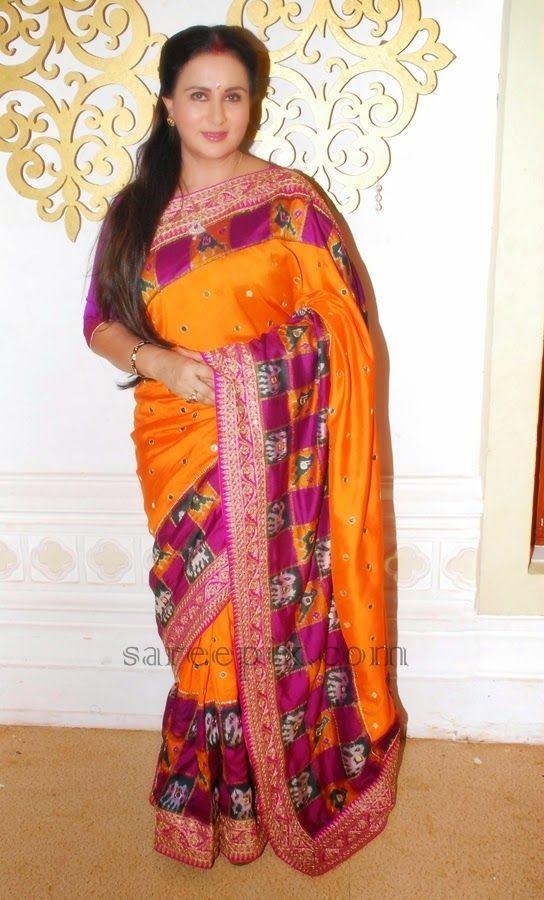 Poonam-Dhillon-silk-saree-Raksha-Bandhan
