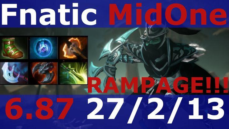 Dota 2 patch 6.87 Phantom Assassin RAMPAGE ! Fnatic MidOne 7900 MMR KDA ...