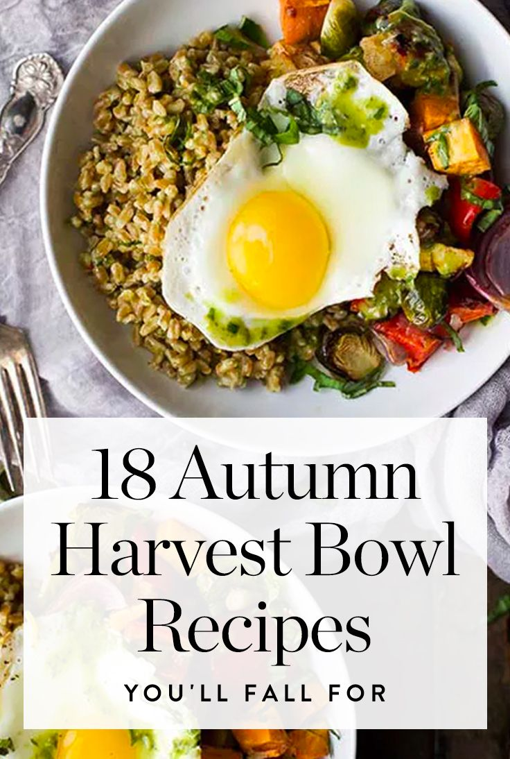 18 Autumn Harvest Bowl Recipes We're Falling For via @PureWow via @PureWow