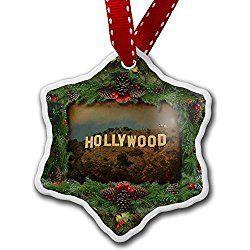 Los Angeles Christmas Ornament Hollywood