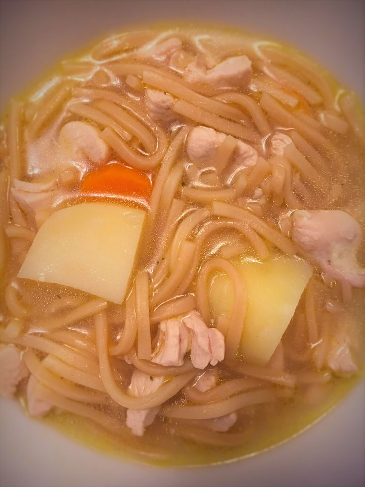 This Chicken Noodle Soup is a really nutritious and filling soup. I don't usually use the chunky setting on my Morphy Richards soup maker, but this soup has reminded me I really should. I actually had this soup for my dinner last night, the inclusion of n