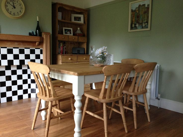 Hand made table and chair set with matching dresser: http://www.pinefarmhousetable.co.uk/