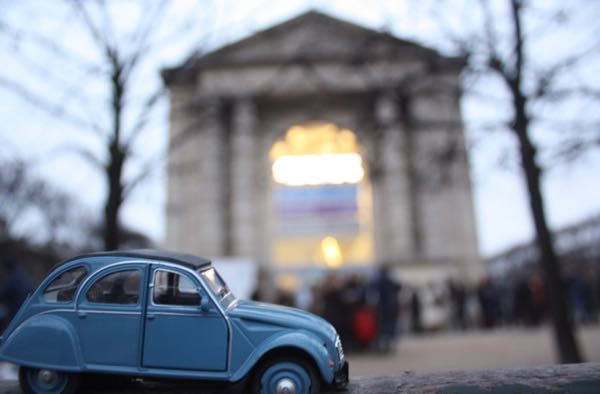 "2CV Week #14  PARIS PHOTO CHALLENGE: Think you know Paris? Each week I will be posting a picture of my Citroen 2CV car in front of a famous Parisian monument or location. Follow the challenge using the hashtag #JansFrance2CV on Twitter or Instagram or check out my website and make your guess. At the end of each week I will post the answer on my website under ""Paris"""