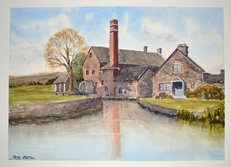 The Old Mill - Lower Slaughter | My watercolour paintings ...