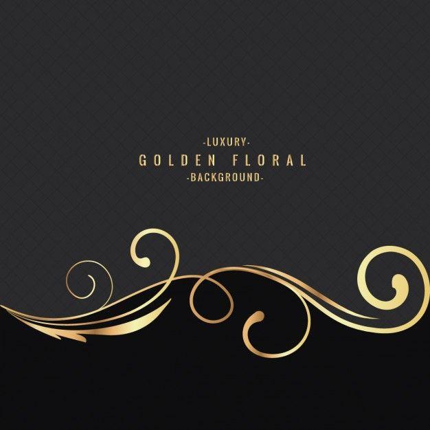luxo fundo floral dourado Vetor grátis