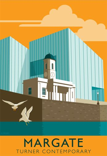 Turner Contemporary & Droit House, Margate. All our poster illustrations are for sale at www.whiteonesugar...