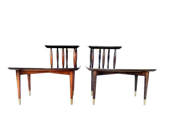 Reserved Retro Side Tables Deilcraft Two Side Tables Walnut Wood Tables Two Tier Tables Mid Century Modern Furniture Retro Living Room Walnut Side Tables Retro Living Rooms Mid Century Modern Furniture