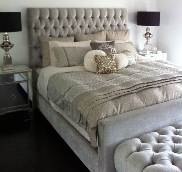 25 Best Ideas About Grey Tufted Headboard On Pinterest