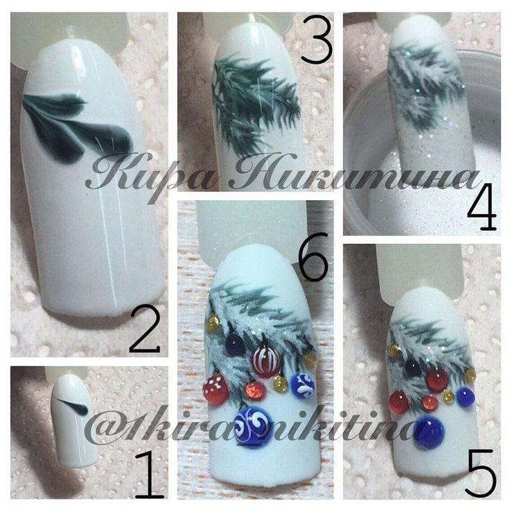 Christmas nail artwork design tutorial by Nails College. Ногти и Маник…
