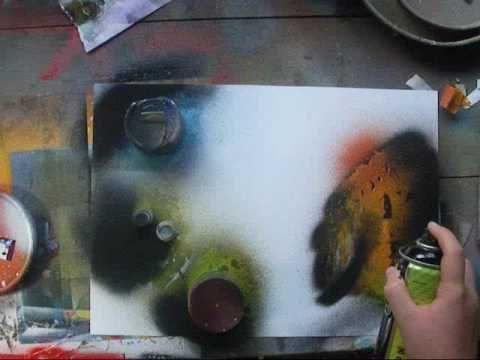 Spray paint art tutorial spacepainting