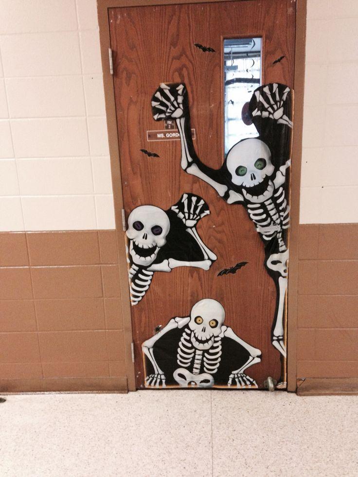 no bones about it our class is the best halloween classroom door