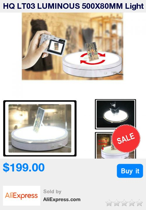 HQ LT03 LUMINOUS 500X80MM Light Glowing Electric Automatic Rotary Rotating Turntable Swivel Plate Display Stand * Pub Date: 00:06 Jul 3 2017