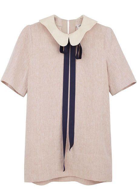 CHARLES ANASTASE /  ANSON TUNIC DRESS: Anson Tunics, Blouses, Bows Ties, Peter Pan Collars, Linens Pants, Peterpan, Charles Anasta, Tunics Shirts, Tunics Dresses
