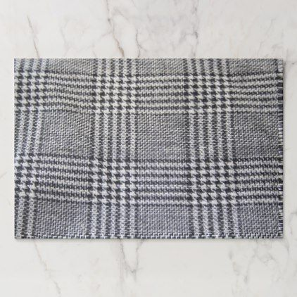 Houndstooth fabric paper pad - black and white gifts unique special b&w style