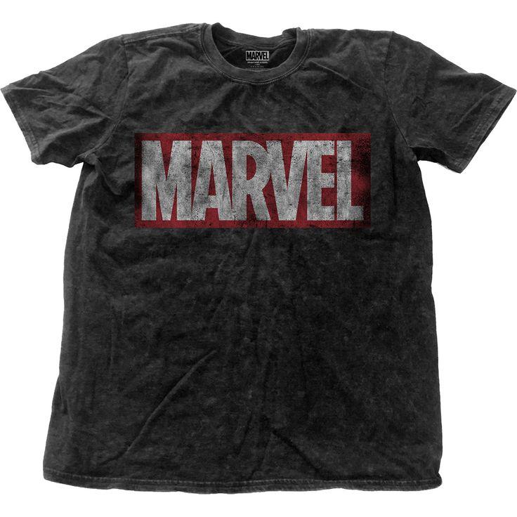 Marvel Comics - Vintage Logo (Black Snow-Washed)