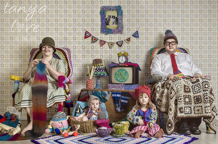 Yarn Bomb Family Portrait.  Copyright Tanya Love. www.tanyalove.com.au 2013. All rights reserved.