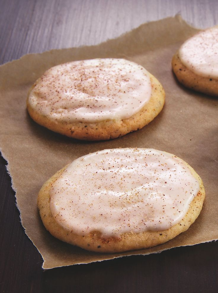 """Betty's sugar cookies infused with chai and glazed with nutmeg spiced eggnog buttercream--sign us up! Betty member says, """"They're even better the next day. The eggnog gives it a real festive flavor perfect for the holidays!"""""""