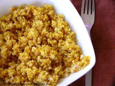 Italian Recipes...  Quinoa curcuma e zenzero