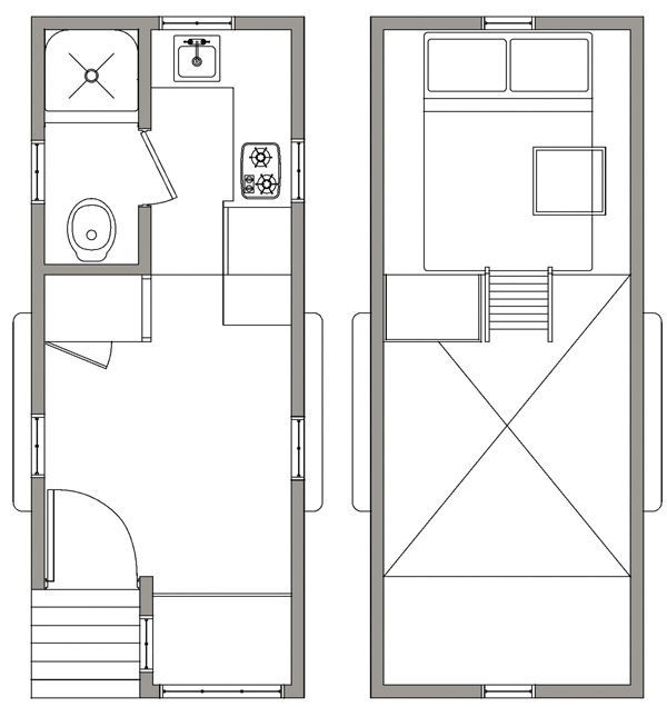 Tiny House Floor Plans Trailer 76 best tiny house floor plans - trailers images on pinterest