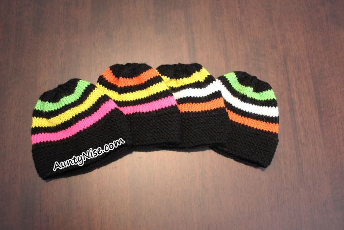 Knitted Licorice Allsorts Inspired Hat Beanie PATTERN ALERT!   AuntyNise.com